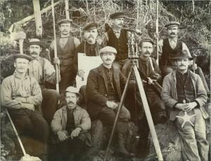 surveyors and tripod